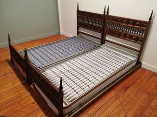 2 camas rústicas