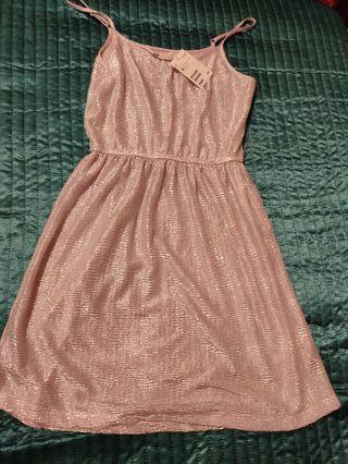 Vestido rosa tipo Babydoll a estrenar H&M
