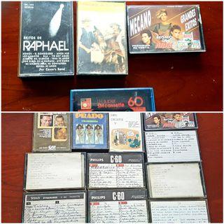 LOTE 65 cintas cassettes años 50 60 70