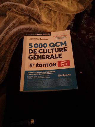 Livre de culture générale QCM