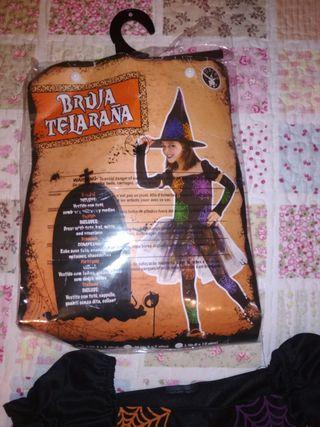 vestido bruja Halloween T. 3-4 años
