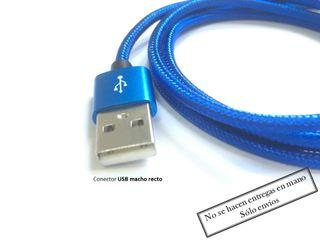 Cable Iphone Acodado 90 grados Azúl
