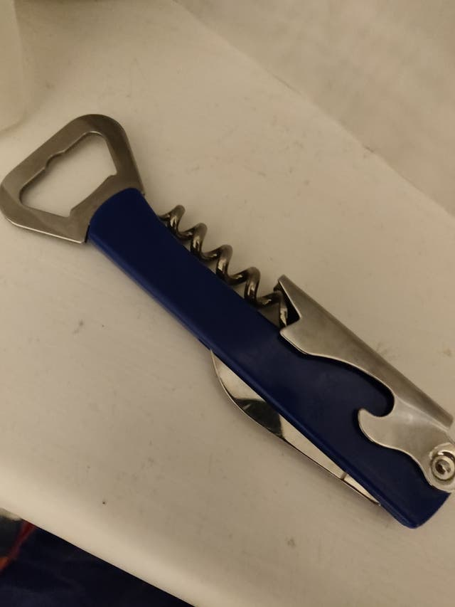 3 in 1 Bottle Opener, Corkscrew and Pocket Knife