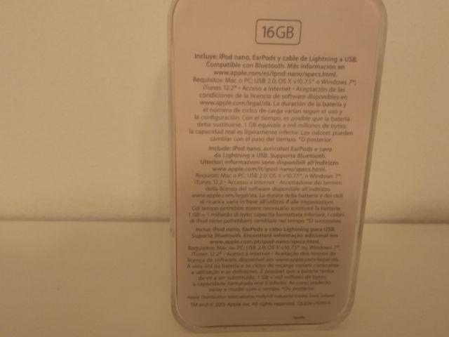 iPod nano 16gb White and silver