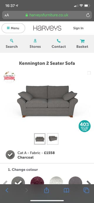 Immaculate Harvey's two seater sofa