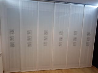 Cortinas panel japonés