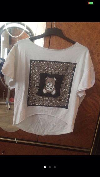 Camiseta blanca con ositos