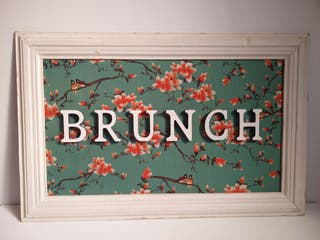 Cartel BRUNCH madera bar