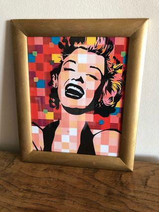 Cuadro dorado Marilyn Monroe