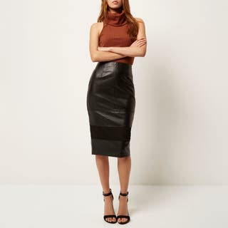 River Island leather skirt 12
