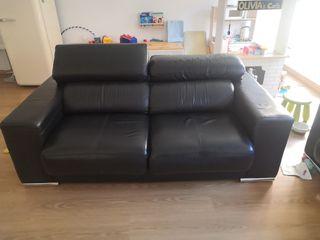2 sofas de piel