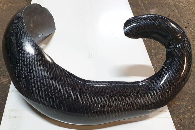 Protector bufanda escape carbono Husqvarna KTM