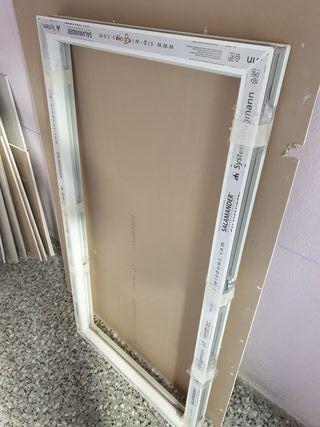 Marco fijo de PVC color blanco