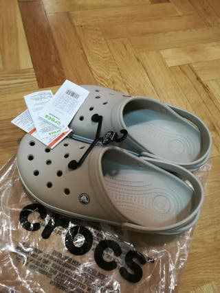 Crocs Crocband U, Zuecos Unisex Adulto, Beige