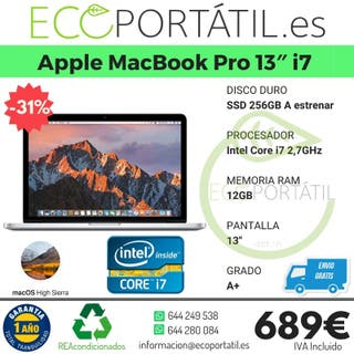 "¡¡¡ OFERTA APPLE MACBOOK PRO 13"" i7 !!!"
