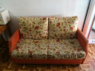 sofa cama y regalo sillones mimbre y mesa