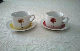 2 tazas café con leche, sirven para microondas.
