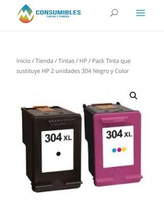 Cartuchos de tinta hp 304