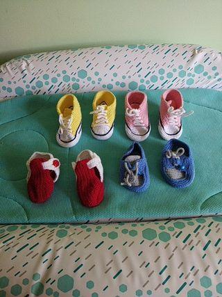 Zapatillas perlé tipo Converse 15€