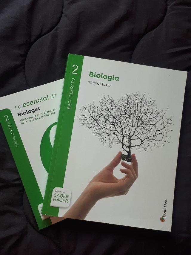 Libro Biologia de 2° de bachillerato de Santillana