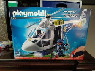 Playmobil helicóptero de policía