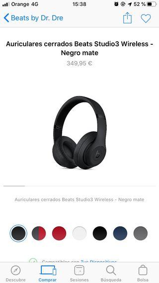 Cascos Beats Studio3 Wireless