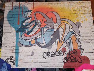 cuadro de grafiti
