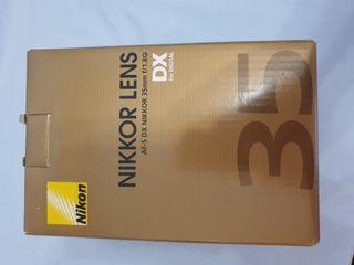 Objetivo Nikon Nikkor Lens 35mm f/1.8G