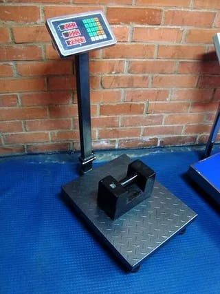 balanza bascula plataforma visor inox