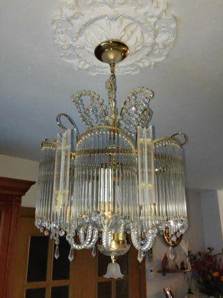 Lámpara salón comedor de cristal