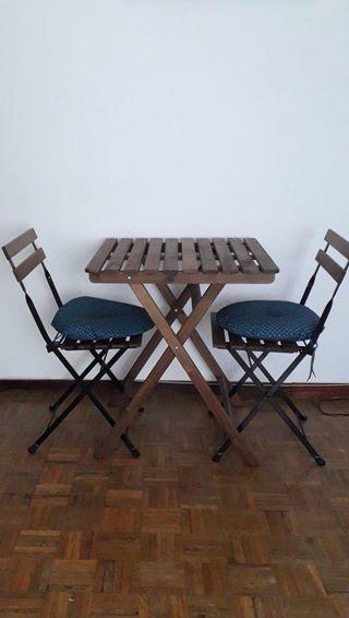 Mesa y sillas plegables ikea