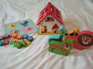 Conjunto juguetes de madera +6/24meses