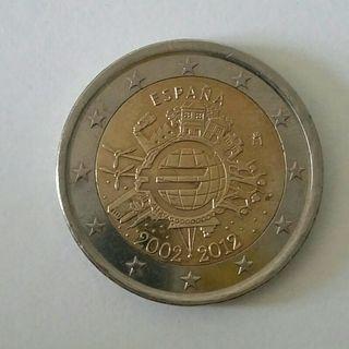 Moneda de dos euros conmemorativa del euro.