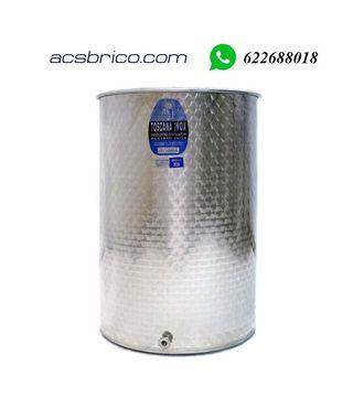 DEPOSITO BIDON ACERO INOXIDABLE 316 - 100 LITROS