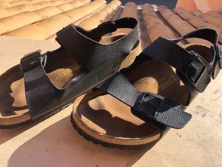 Birkenstock piel sandalias