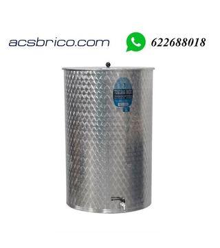 DEPOSITO - BIDON - INOX 304 - 500 LITROS -72X125CM