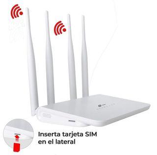 Router 4G LTE WiFi Ranura tarjeta SIM Conector Ant