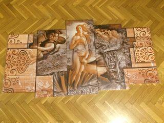 Cuadro 5 lienzos nacimiento de Venus