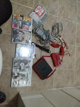 Wii mini con todo