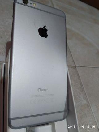 iPhone 6 plus. color plata.