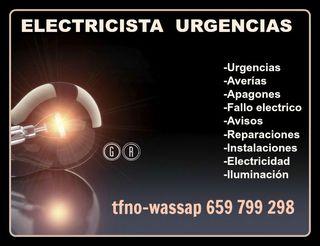 ELECTRICISTA AVERIAS-URGENCIAS-REPARO-INSTALO