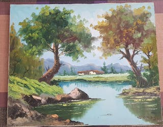 Pintura oleo sobre tela, Comas