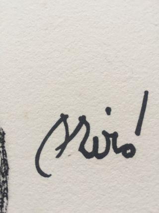 Litografía Joan Miró (Número 16) Obra 1975