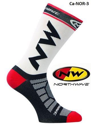 Calcetines ciclismo Northware -blanco,rojo,negro