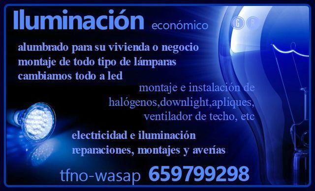 ALUMBRADO-MONTAJE TODO TIPO DE LAMPARAS Y LED