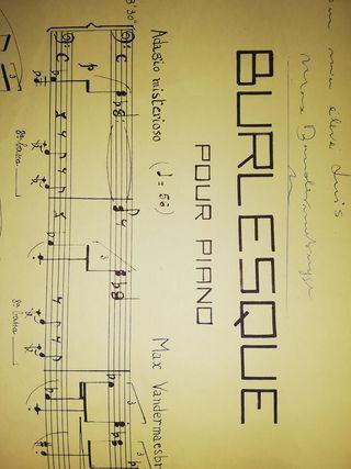 Vandermaesbrugge Burlesque partitura piano firma