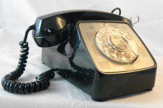 Antiguo teléfono GTE Automatic Electric USA 1969
