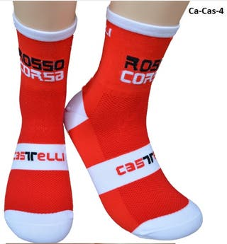 Calcetines ciclismo o running Castelli rojos