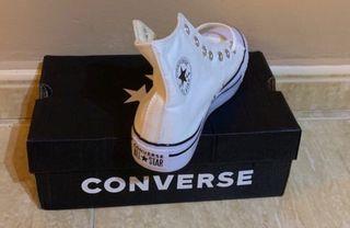 Converse blanca Plataforma