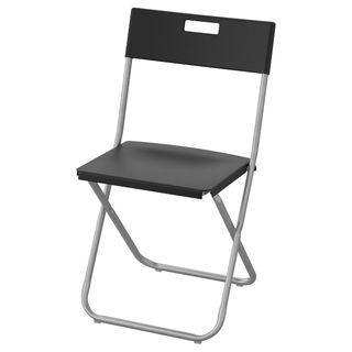 20 sillas plegables de color negro IKEA